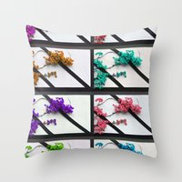 poem Throw Pillows featuring Floral poem by RicardMN Photography