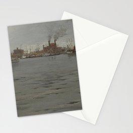 William Merritt Chase - Harbor Scene, Brooklyn Dock Stationery Cards