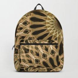 Mandala in light brown tones Backpack