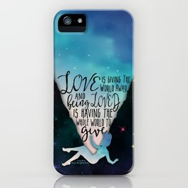 The Love That Split The World - Being Loved iPhone Case