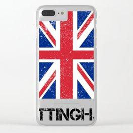Nottingham  Design Print Clear iPhone Case
