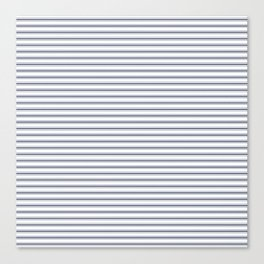 Dark Sargasso Blue Mattress Ticking Narrow Striped Pattern - Fall Fashion 2018 Canvas Print
