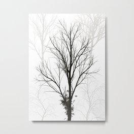 Trees Illustration Metal Print