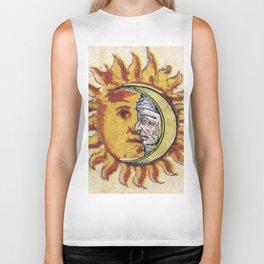 Sun and Moon Face Biker Tank