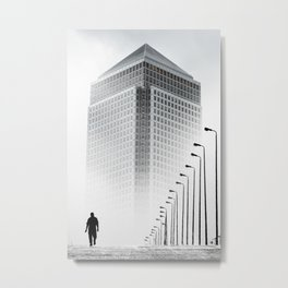 Alone in the city by GEN Z Metal Print