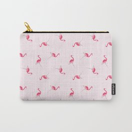 Hi Ho Flamingo Watercolor Painting Carry-All Pouch