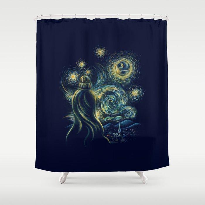 Death Starry Night Shower Curtain
