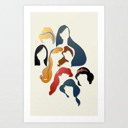 Royal Hair Art Print
