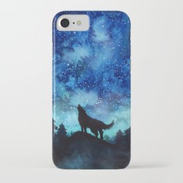 Wolf Galaxy iPhone Case