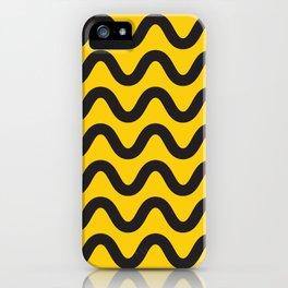 Yellow Ripple iPhone Case