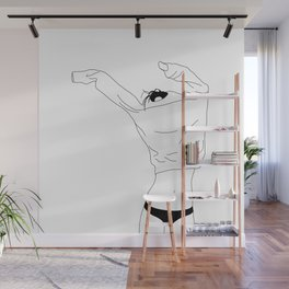 Fashion illustration line drawing - Cadee Wall Mural