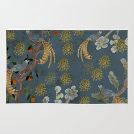 Blue Chinese Forest Rug