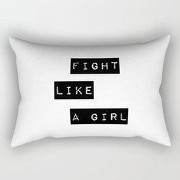 Fight like a girl Rectangular Pillow