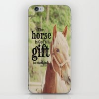 arab iPhone & iPod Skins featuring Horse Quote Arab proverb by KimberosePhotography