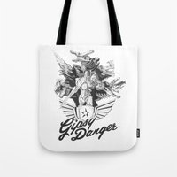 kaiju Tote Bags featuring Kaiju Killer by R & J Keefe