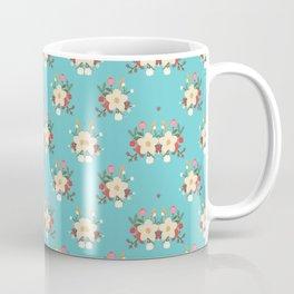 Fashion Flower Pattern Art Design Coffee Mug