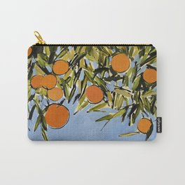 Orange Grove (Blue) Carry-All Pouch