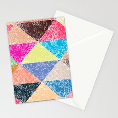 Color texture, Geometric background #2 Stationery Cards