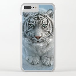 White Tiger - Wild Intentions Clear iPhone Case