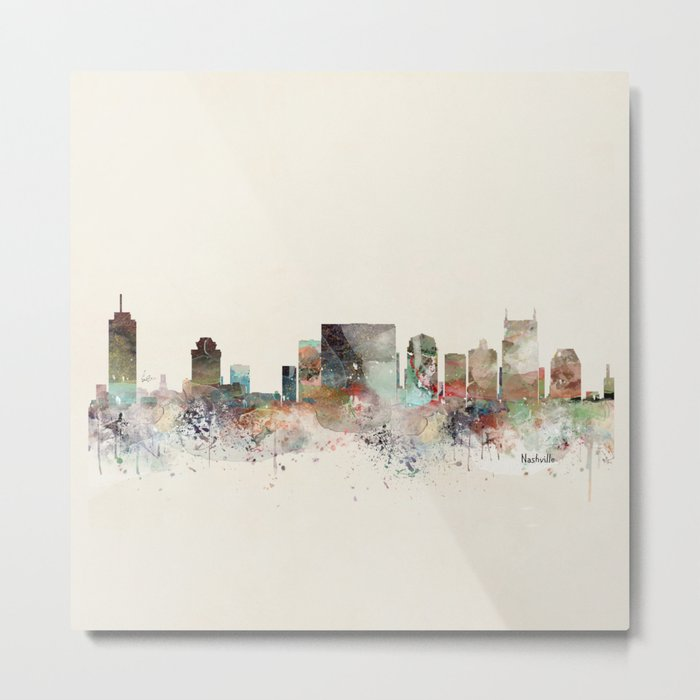 nashville city skyline Metal Print