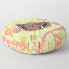 Smiling puffer Floor Pillow