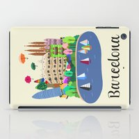 barcelona iPad Cases featuring Barcelona  by uzualsunday