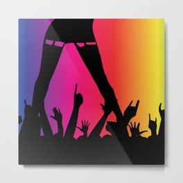 Entertainer With Audience Metal Print