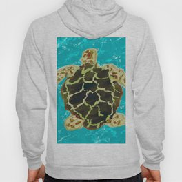 Sea turlte under water Hoody
