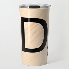 Scrabble Letter D - Large Scrabble Tiles Travel Mug