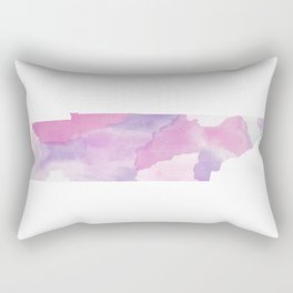 Watercolor State Map - Tennessee TN purples Rectangular Pillow
