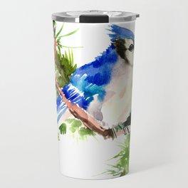 Blue Jay Christmas Travel Mug