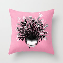 HEDGEHOG BOUQUET Throw Pillow