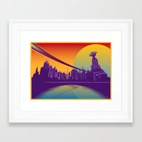 metropolis Framed Art Prints featuring Metropolis by Arian Noveir