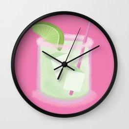 Margarita on the Rocks Wall Clock