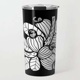 Black & White Cashew Apple Travel Mug