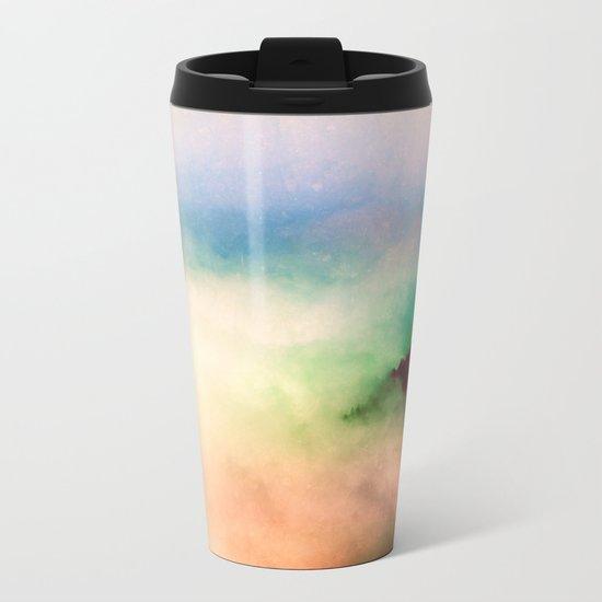 Ethereal Rainbow Clouds Metal Travel Mug