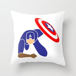 Simple Cpt America Throw Pillow