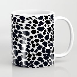 Animal Print Cheetah Black and White Pattern #4 Coffee Mug