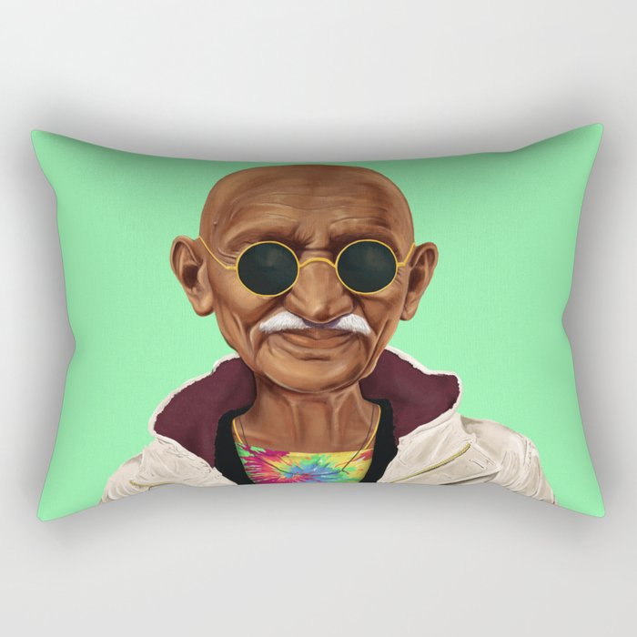 Hipstory -  mahatma gandhi Rectangular Pillow