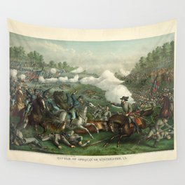 Civil War Battle of Opequan or Winchester Sept. 19th 1864 Wall Tapestry