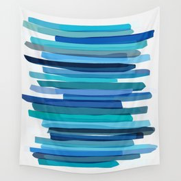 Blue Stripes Wall Tapestry