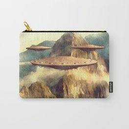UFOs Over Machu Picchu Carry-All Pouch