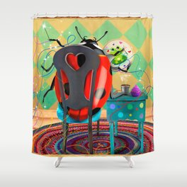 You Found Your Stitchy Bug Shower Curtain