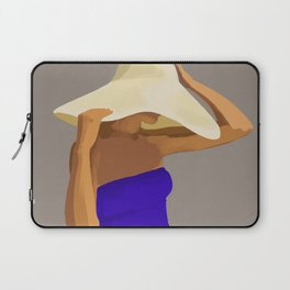 At The Beach: Blue Suit Laptop Sleeve