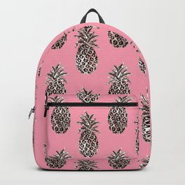 Coral Rose Gold Pineapples Backpack