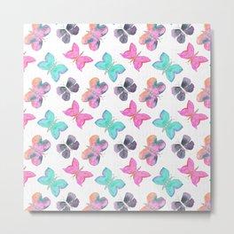 Watercolor Butterflies Metal Print