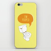 toilet iPhone & iPod Skins featuring Toilet Pun by Zeke Tucker