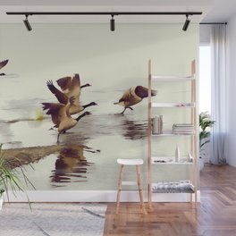 The Take Off - Wild Geese Wall Mural