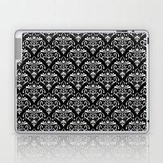 damask pattern back and white Laptop & iPad Skin