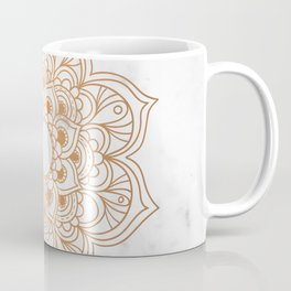 Copper flower mandala - marble Coffee Mug
